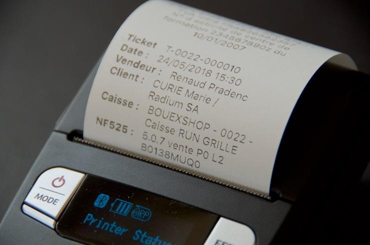 Nom du client sur le ticket imprimé